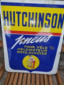 Plaque émaillée ancienne Pneus Hutchinson