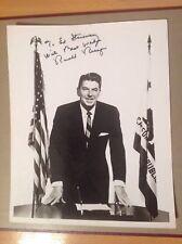 Ronald Reagan. Autograph. Signed Photo. U.S President. AFTAL Dealer.