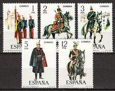Spain - 1978 Militairy uniforms (IX) - Mi. 2343-47 MNH
