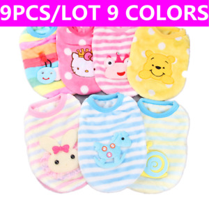 9x Teacup Dog Clothes Soft Outfit Pet Puppy Hoodie Pajamas for Cat Yorkie XXS XS