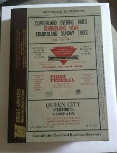 1984 Polk's City Directory, CUMBERLAND, MARYLAND, Genealogy - FREE SHIPPING!!