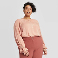 Ava & Viv Women's Plus Floral Print Long Sleeve Blouse - X, 2X, 3X, 4X - New