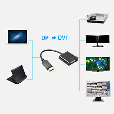 1X DisplayPort DP Male to DVI Female Adapter Cable Converter for Laptop PC DVD R