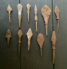Authentic Medieval Viking Era Military Iron Arrow Head11pieces