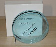 Chanel VIP gift Hydra Beauty light blue transparent small round makeup bag NIB