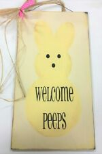 EASTER SKINNY WOOD SIGN Shelf Sitter Decoration Bunny Treats Crossing Love