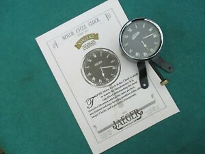 VINCENT HRD (OR BSA TRIUMPH NORTON ) VINTAGE BRITISH JAEGER  MOTORCYCLE CLOCK