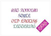 Art Nouveau Font Letter Stencil Tiles or Sheet 3 Sizes 350 Micron Mylar FONT013
