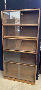 Vintage Retro Mid Century Simplex 5 Section Bookcase