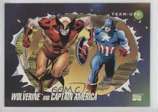 1992 Impel Marvel Universe Series 3 #75 Wolverine Captain America Card 1md