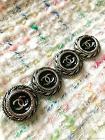 4 Four Chanel buttons 4 pieces   metal cc 0,8 inch 22 mm  😍😘👍