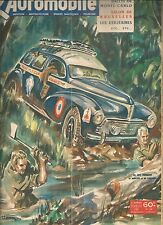 L'AUTOMOBILE 58 1951 RALLYE MONTE CARLO RAID MEDITERRANEE LE CAP SALON BRUXELLES