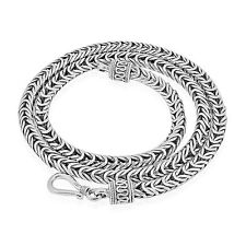 DESIGNER BYZANTINE Chain Solid 925 Sterling Silver  20 Inch 58 gm 5 mm #F18
