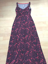 defe2c98b99 BODEN red   navy paisley jersey maxi DRESS size 6R Wh984