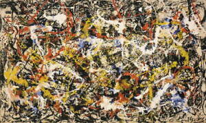 Jackson Pollock Convergence Giclee Art Paper Print Poster Reproduction