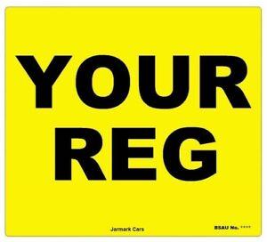 "REAR 9X7""  MOT UK Road Legal Motorcycle Car Van Reg Registration Number Plate"