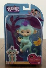 AUTHENTIC ZOE Turquoise WowWee Fingerlings Monkey Fingerling ~ FREE SHIPPING