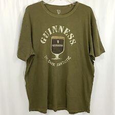 Lucky Brand Guinness Mens T Shirt Size XL Green Short Sleeve Graphic Tee
