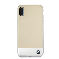BMW IPHONE X MOCCA GENUINE LEATHER HARD CASE