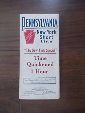ANTIQUE 1908 U.S. RAILROAD TIME TABLE - PENNSYLVANIA NEW YORK SHORT LINE