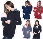 Maternity Polar warm fleece Hoodie Jumper Pullover Babywearing BABY CARRIERS II
