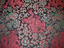 "~BTY~""DRAGONS ASIAN ORIENTAL""~EMBROIDERED ELEGANT UPHOLSTERY FABRIC FOR LESS~"