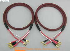 S01Bw(B) (2m 6.5ft) --- Pair Canare Bi-Wire Speaker Audio Cable 2xSpade 4xBanana
