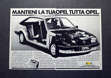 H843- Advertising Pubblicità -1982- RICAMBI ORIGINALI OPEL