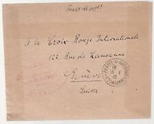 1942 France Concentration Internment Camp de Recebedou Prisoner Cover Red Cross