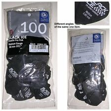 "Bag of 100 Planet Waves Black Ice Duralin Pro Pick. Medium Guage 0.80mm (0.031"")"