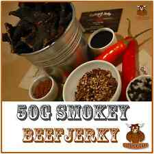 BEEF JERKY SAVOURY SNACK FOOD 50G BULK SMOKEY AUSTRALIAN DELICIOUS FLAVOUR