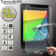 2 Pack Tempered Glass Screen Protector for Google Nexus 7 2nd Gen 2013 Tablet