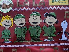 SNOOPY WHITMAN'S CHRISTMAS TIN 10 oz ASSORTED CHOCOLATE