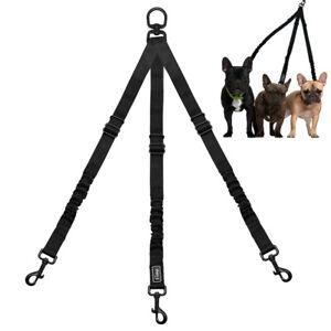 Nylon 3 Way Dog Leash Pet Triple Splitter/Coupler Lead Adjustable for Three Dogs