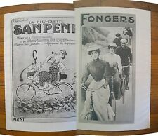"1973 PRINT/POSTER/AD~1925 SANPENE BICYCLES~1920 FONGERS BIKES~16""x11"""