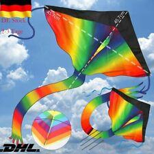 Großer Kinder-Drachen - SUPER-DRACHEN Rainbow Flyer XL Einleiner Flugdrachen DS