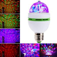 Diskokugel Disco Lichteffekte RGB LED Stage Partylicht Magic Birne Lampe E27 3W
