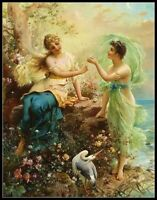 Fantasy Women - Chart Counted Cross Stitch Pattern Needlework Xstitch craft DIY