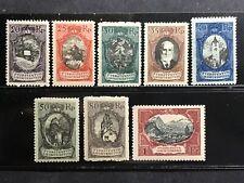 Liechtenstein 1921 20rp-1fr PICTORALS MINT #62-69 LH or HR CV$280.50