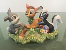Walt Disney Productions Bambi Thumper Flower the Skunk and Frog Figurine Disney