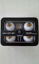Chicago Blackhawks Golf Ball / Divot Tool with Ball Marker NHL Gift Set