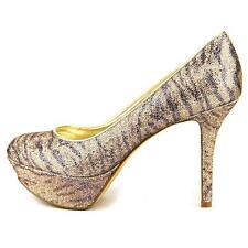 $89 NIB Nine West Women Mendoza Animal Print Golden Platform Pump Shoe sz 8.5
