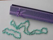 Freshwater Pearl Set Necklace & Bracelet Blue,  Bridal? Boxed *88