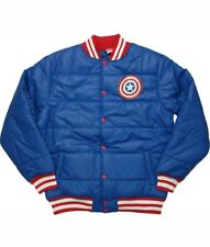 Captain America Proud Leader Marvel Officially Licensed Adult Puffy Jacket SZ XL