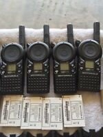 Set of Motorola CLS1110 Two Way Radio + Chargers In Excellent Conditions