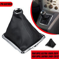 Car Gear Shift Gaiter Boot Cover W/ Frame PU Leather For Opel Zafira 2001-2012