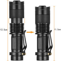 Tactical 50000LM T6 LED 18650 Flashlight Zoomable Focus Torch Lamp New