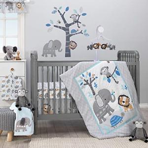Bedtime Originals Jungle Fun 3-Piece Crib Bedding Set, 1 Pack