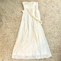 NWT Bcbg Maxazria Ivory Silk Maxi Dress Gown Size 6 Convertible Strap Wedding