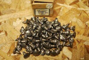 "Qty 101 #12"" x 1/2"" Oval Head 18-8 SS Sheet Metal Screws Type A NOS w Box #bs42"